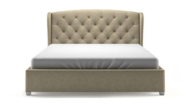 Holmebrook Upholstered Bed (Queen Bed Size, Mist Brown, Yes) by Urban Ladder