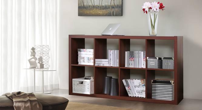 Boeberg Bookshelf (Dark Walnut Finish, 4 x 2 Configuration, Without Inserts, Yes) by Urban Ladder