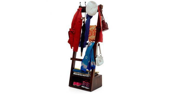 Alfred Coat Rack (Mahogany Finish, Yes) by Urban Ladder