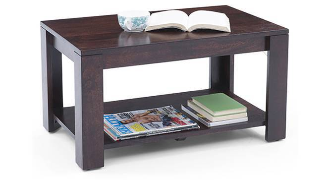 Flair Coffee Table (Mahogany Finish, Yes) by Urban Ladder