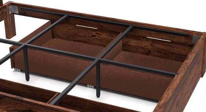 Valencia Storage Bed (Teak Finish, King Bed Size, Yes) by Urban Ladder