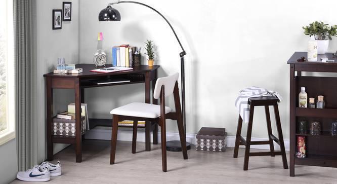 Collins Corner Study Table (Dark Walnut Finish, Yes) by Urban Ladder