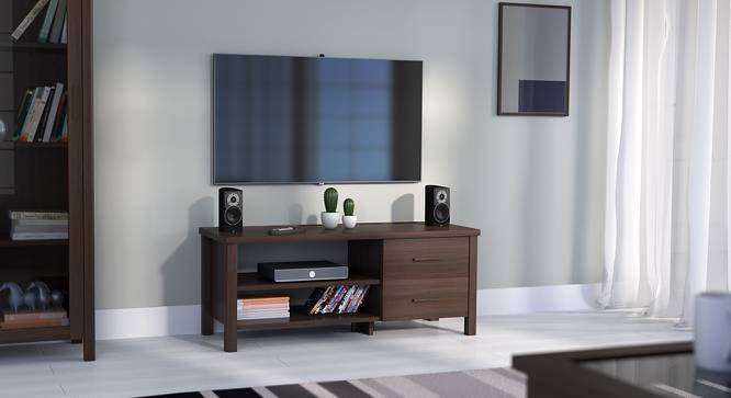 Norland Compact TV Unit (Dark Walnut Finish, Yes) by Urban Ladder