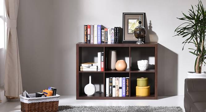 Boeberg Bookshelf (Dark Walnut Finish, 3 x 2 Configuration, Without Inserts, Yes) by Urban Ladder
