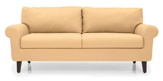 Oxford Leatherette Sofa (Butterscotch) (Butterscotch, Leatherette Sofa Material, Regular Sofa Size, Regular Sofa Type)