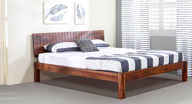 Valencia Bed (Teak Finish, King Bed Size, Yes) by Urban Ladder