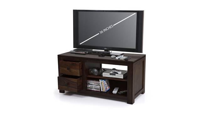 Striado TV Unit (Mahogany Finish, Yes) by Urban Ladder