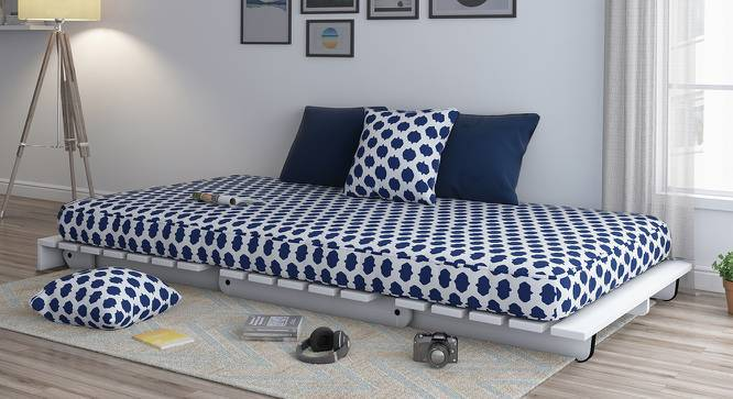 Finn Futon Sofa Cum Bed (Inkblot Blue, Yes) by Urban Ladder