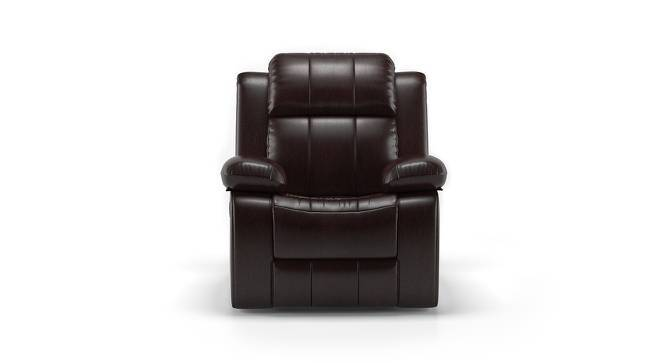 Robert Half Leather One Seater Recliner Sofa (Chocolate, Yes) by Urban Ladder