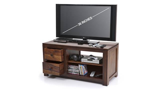 Striado TV Unit (Teak Finish, Yes) by Urban Ladder