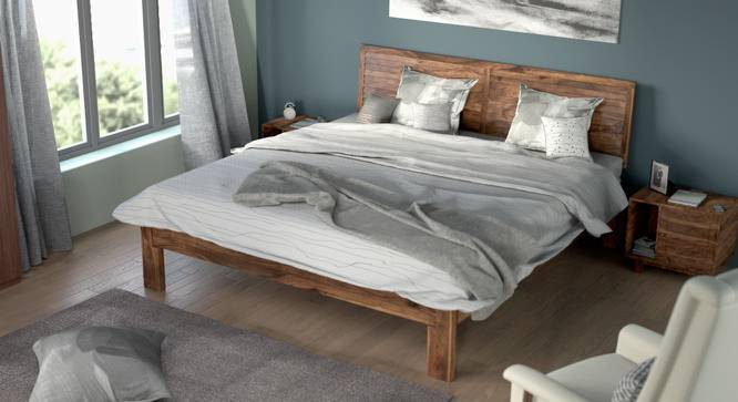 Terence Bed (Teak Finish, Queen Bed Size, Yes) by Urban Ladder