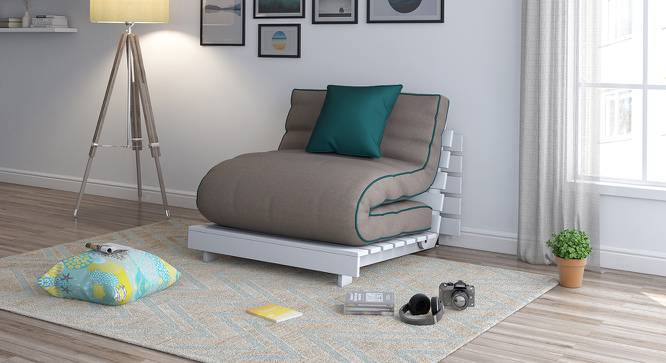 Finn Futon Sofa Cum Bed (Cinnamon Dust, Yes) by Urban Ladder