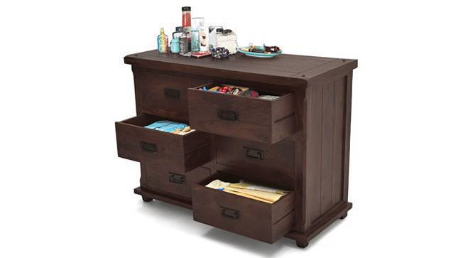 Lhasa Chest of Drawers (Mahogany Finish, Yes) by Urban Ladder