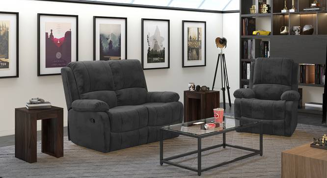 Tribbiani Two Seater Recliner Sofa (Grey, Yes) by Urban Ladder