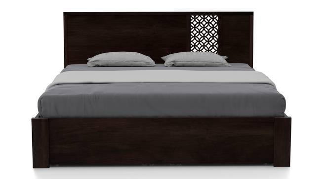 Alaca Storage Bed (Mahogany Finish, King Bed Size, Yes) by Urban Ladder