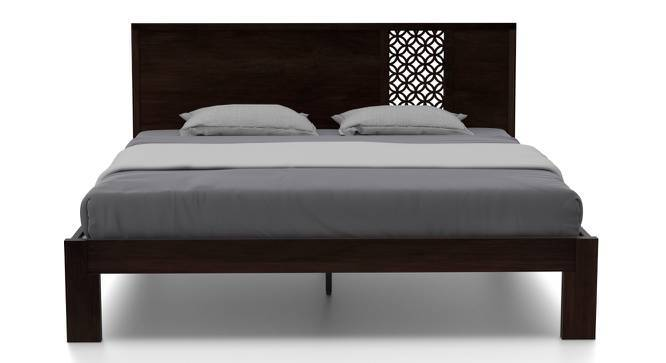 Alaca Bed (Mahogany Finish, King Bed Size, Yes) by Urban Ladder