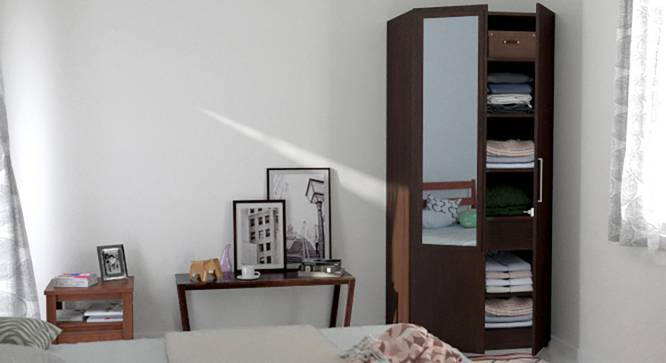 Domenico XL Wardrobe (Two Door, With Mirror Configuration, Yes) by Urban Ladder