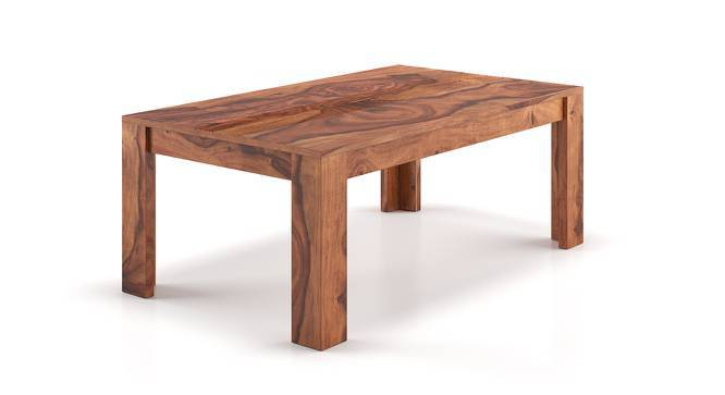 Striado Coffee Table (Teak Finish, Without Shelves Configuration, Yes) by Urban Ladder