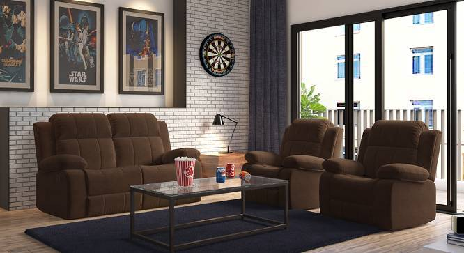Robert Two Seater Recliner Sofa (Carafe Brown Fabric, Yes) by Urban Ladder