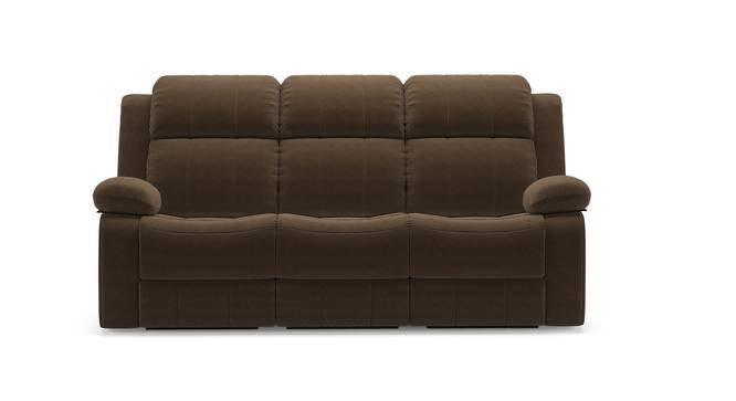 Robert Three Seater Recliner Sofa (Carafe Brown Fabric, Yes) by Urban Ladder