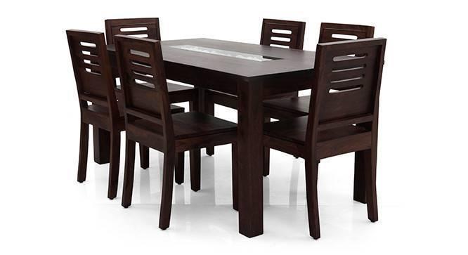 Brighton Large - Capra 6 Seater Dining Table Set (Mahogany Finish, Yes) by Urban Ladder