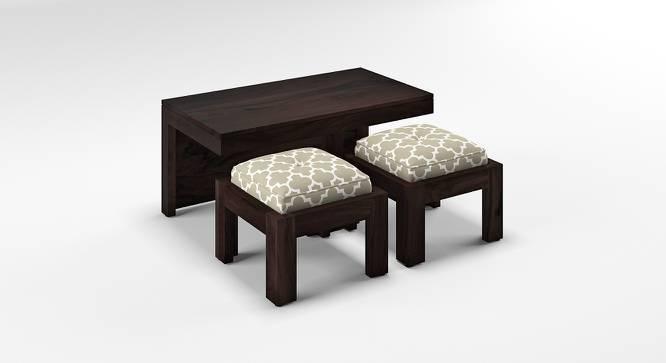 Kivaha 2-Seater Coffee Table Set (Ebony Finish, Morocco Lattice Beige, Yes) by Urban Ladder