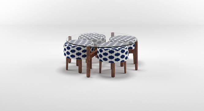 Cayman Coffee Table Set (Teak Finish, Inkblot Blue, Yes) by Urban Ladder