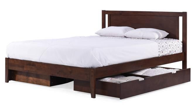 Brandenberg Storage Bed (Queen Bed Size, Dark Walnut Finish, Yes) by Urban Ladder