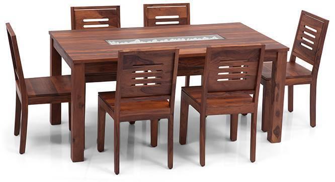 Brighton Large - Capra 6 Seater Dining Table Set (Teak Finish, Yes) by Urban Ladder