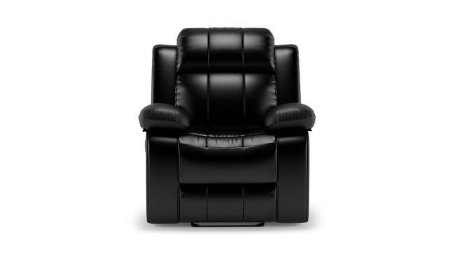 Robert Recliner (Black Leatherette, Yes) by Urban Ladder