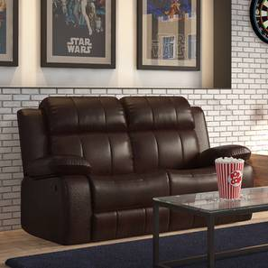 Robert Half Leather Two Seater Recliner Sofa (Chocolate)