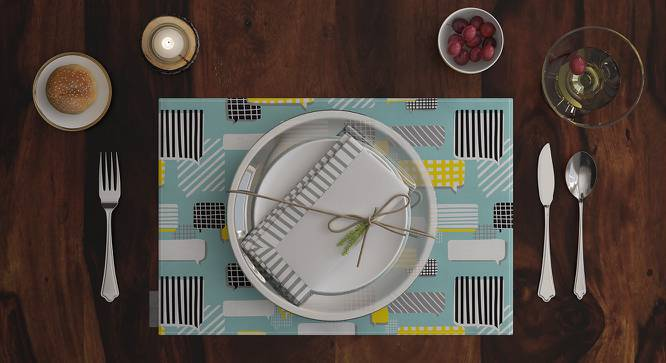 """Doodle Man Placemat (Set of 6) (12"""" x 18"""" Table Linen Size, Talk Pattern) by Urban Ladder"""
