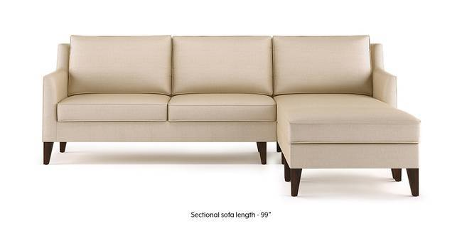 Greenwich Sectional Sofa (Pearl White) (Pearl, Ottoman Custom Set - Sofas, None Standard Set - Sofas, Fabric Sofa Material, Regular Sofa Size, Regular Sofa Type)
