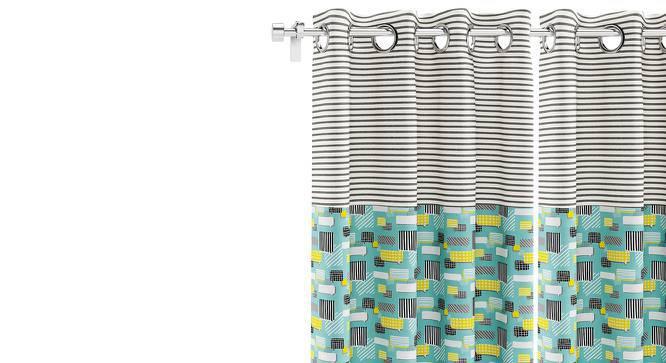 "Doodle Man Door Curtain - Set Of 2 (52""x84"" Curtain Size, Talk Pattern) by Urban Ladder"