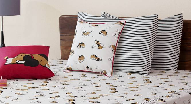 """Snoozy Pet Cushion Cover - Set Of 2 (16"""" X 16"""" Cushion Size, Triangle) by Urban Ladder"""