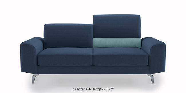 Norton Adjustable Sofa (Blue) (Blue, 3-seater Custom Set - Sofas, None Standard Set - Sofas, Fabric Sofa Material, Regular Sofa Size, Regular Sofa Type)