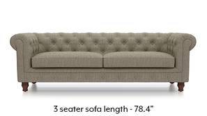 Winchester Fabric Sofa (Mist Brown)