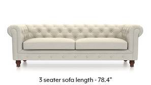 Winchester Fabric Sofa (Pearl White)