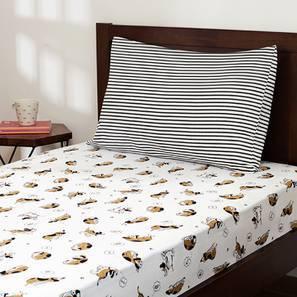 Snoozy Pet Bedsheet Set (Single Size) By Urban Ladder