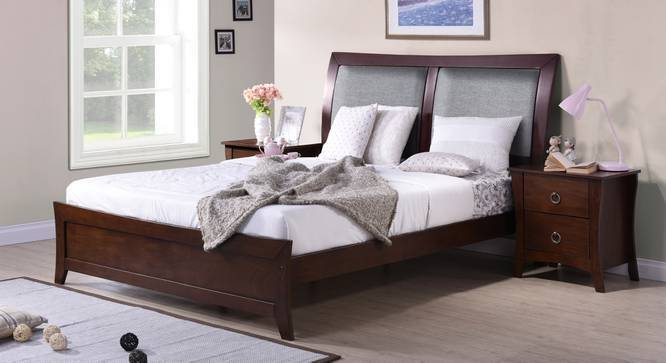 Packard Bed (King Bed Size, Dark Walnut Finish) by Urban Ladder