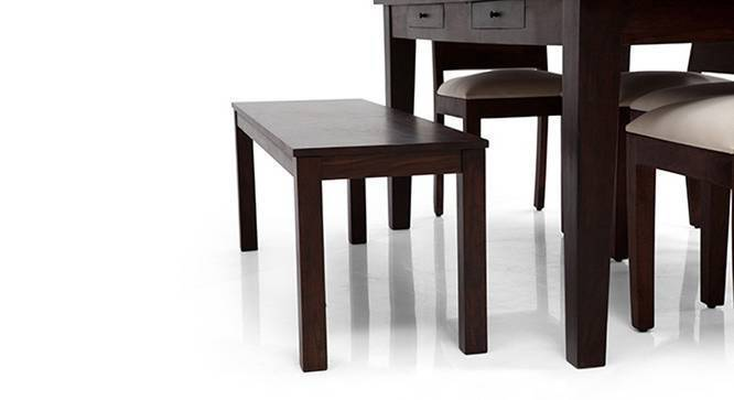 Arabia - Capra 6 Seater Dining Table Set (With Bench) (Mahogany Finish) by Urban Ladder