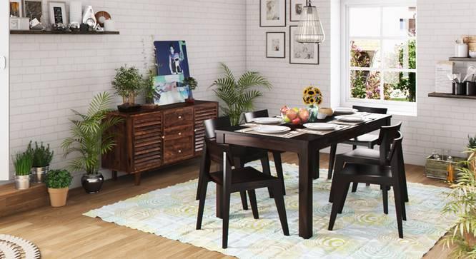 Arabia XL Storage - Gordon 6 Seater Dining Table Set (Mahogany Finish) by Urban Ladder
