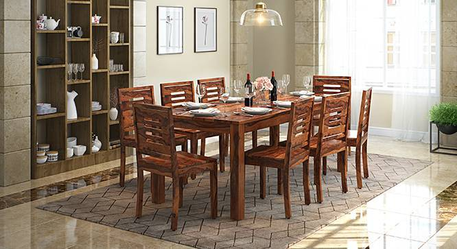Arabia XXL - Capra 8 Seater Dining Table Set (Teak Finish) by Urban Ladder