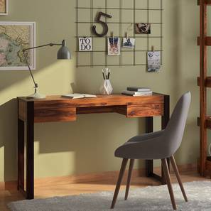 Austen Compact Desk (Two Tone Finish) By Urban Ladder