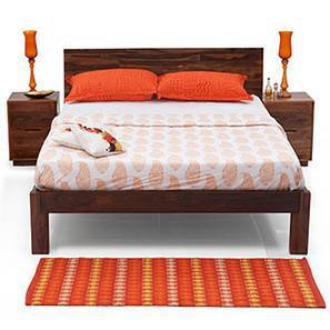 Boston Essential Bedroom Set (Teak Finish) (Queen Bed Size) by Urban Ladder