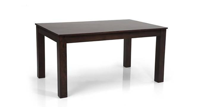 Arabia - Oribi 6 Seater Dining Table Set (Mahogany Finish, Burnt Orange) by Urban Ladder