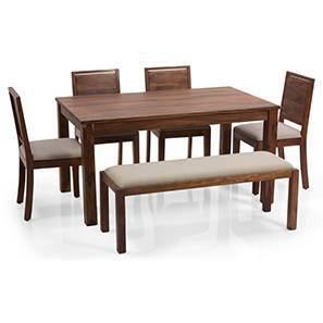 Arabia xl oribi dining table sets with bench teak brown lp