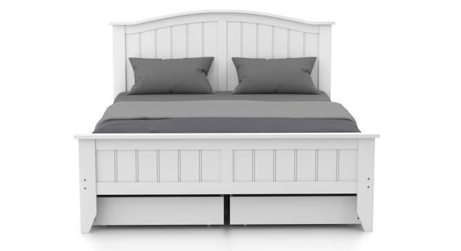 Wichita Storage Bed (Queen Bed Size, White Finish) by Urban Ladder
