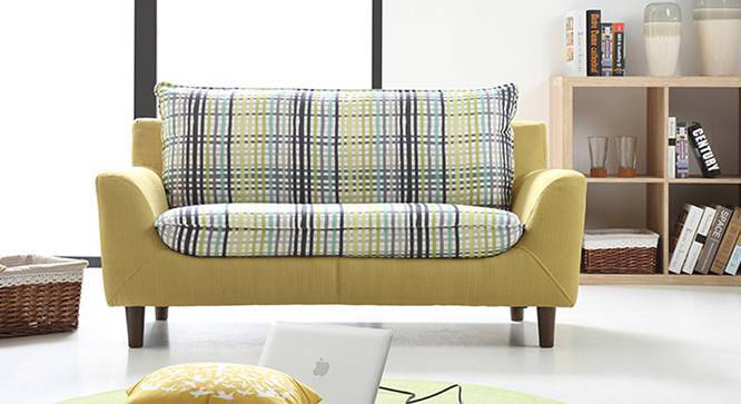 Lillian Loveseat (Checkered Muted Lime) by Urban Ladder