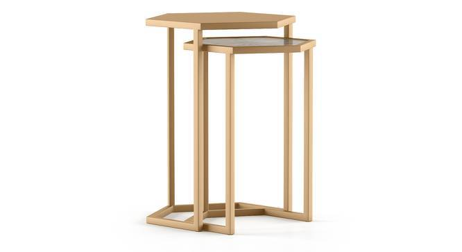 Kumiko Side Table (Gold) by Urban Ladder